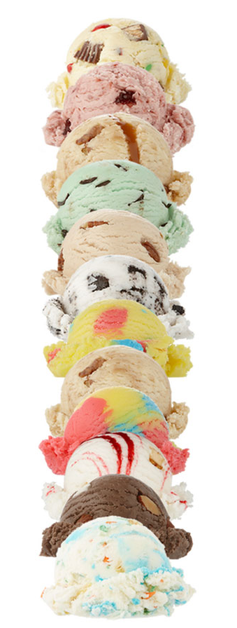 Stacked Ice Cream Scoops